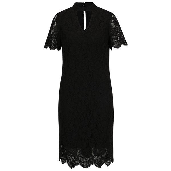 Rochie neagră din dantelă cu mâneci scurte VERO MODA Elvira de la VERO MODA in categoria rochii de seară