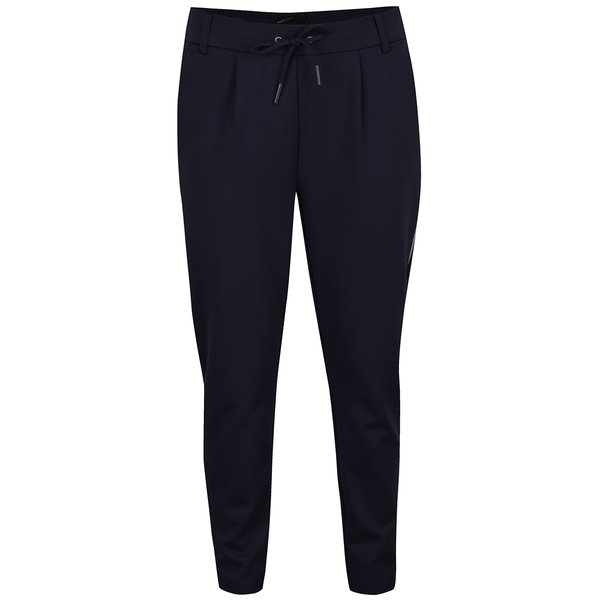 Pantaloni chino bleumarin cu șiret in talie ONLY Poptrash