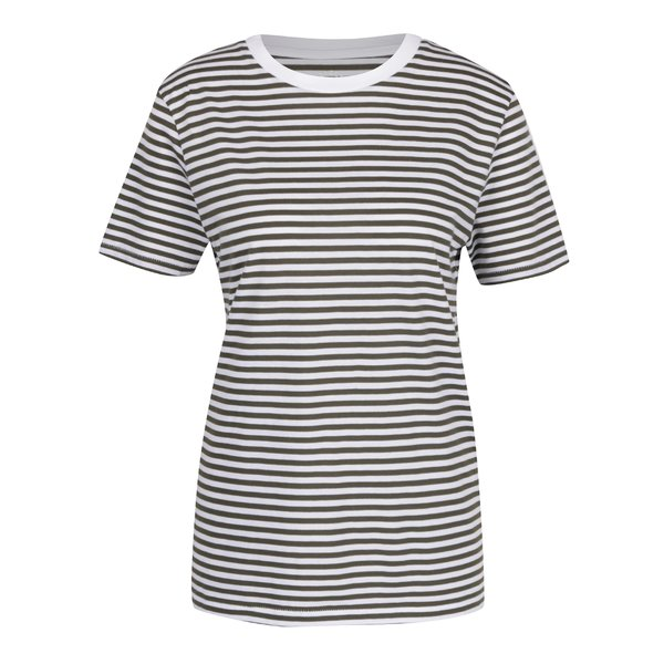 Tricou crem&verde in dungi Selected Femme MyPerfect