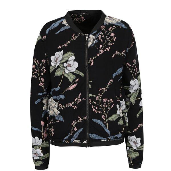 Jacheta bomber neagra cu imprimeu floral multicolor ONLY Nova de la ONLY in categoria Geci, jachete și sacouri