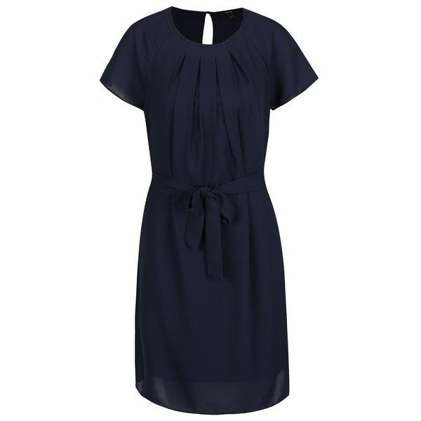 Rochie bleumarin cu pliuri Vero Moda Nelli de la VERO MODA in categoria rochii casual
