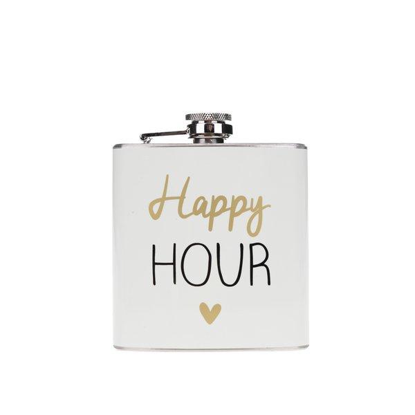 Sticlă metalică de buzunar cu print CGB Happy hour de la CGB in categoria Bucătăria