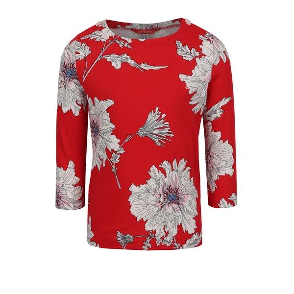 Bluza rosie cu print floral Tom Joule pentru fete de la Tom Joule in categoria Tricouri, camasi