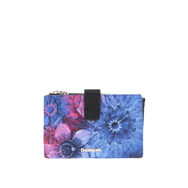 Portofel albastru Desigual imprimeu floral de la Desigual in categoria portofele