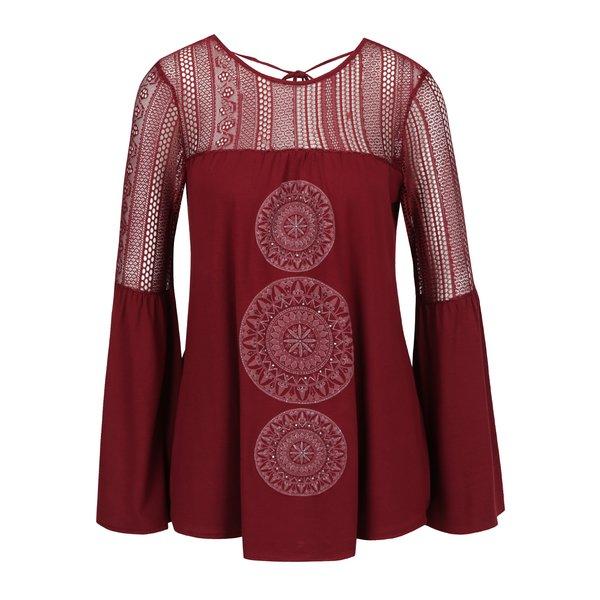 Bluză roșie cu croială cloș Desigual Neusifu de la Desigual in categoria Topuri, tricouri, body-uri