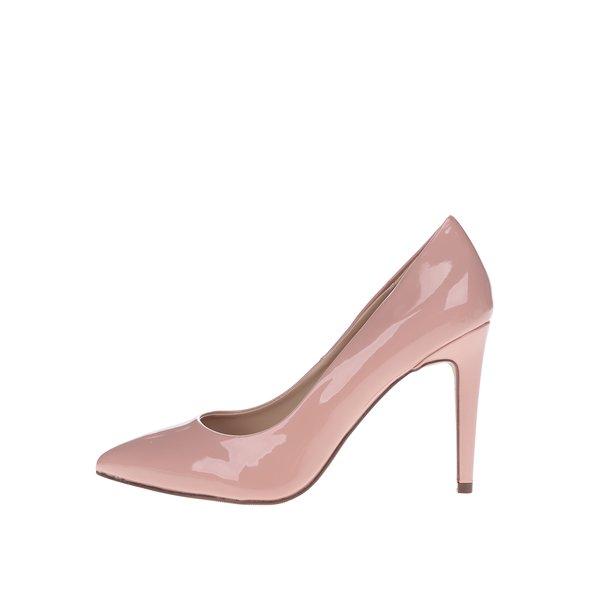 Pantofi lăcuiți roz prăfuit Dorothy Perkins cu toc stiletto de la Dorothy Perkins in categoria pantofi cu toc