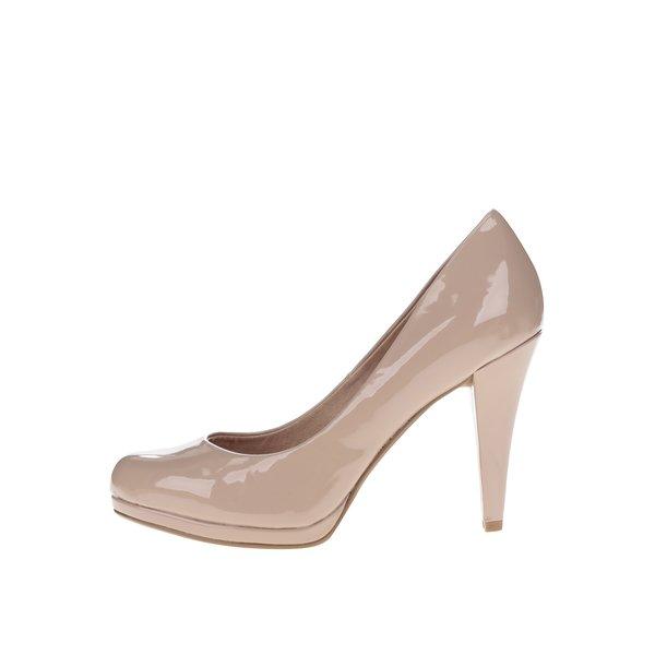 Pantofi bej lacuiti cu platforma Dorothy Perkins