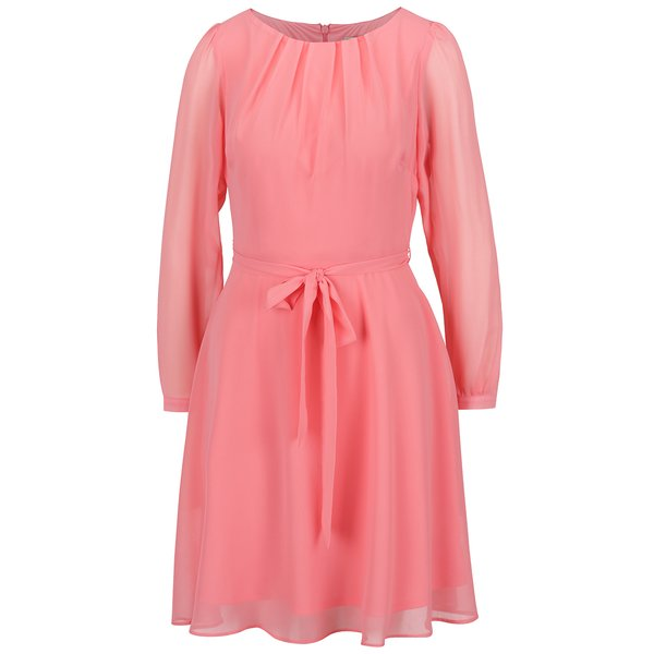 Rochie roz pudrat Billie & Blossom cordon în talie de la Billie & Blossom in categoria rochii de seară