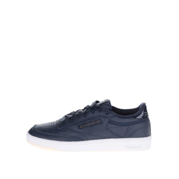 Pantofi sport albaștri din piele Reebok pentru femei de la Reebok in categoria pantofi sport și teniși