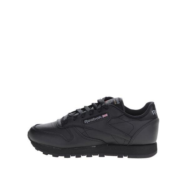 Pantofi sport negri din piele Reebok pentru femei de la Reebok in categoria pantofi sport și teniși