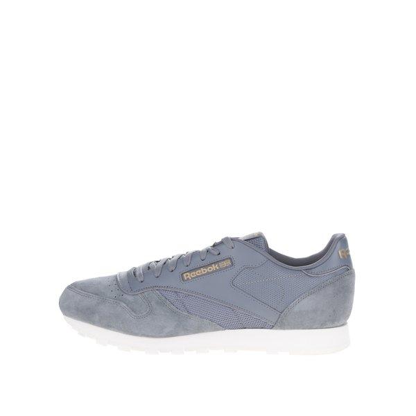Pantofi sport gri din piele naturală pentru bărbați - Reebok Ripple WP