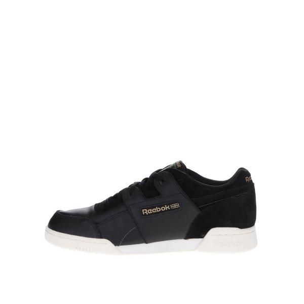 Pantofi sport negri cu detalii piele întoarsă Reebok pentru bărbați de la Reebok in categoria pantofi sport și teniși