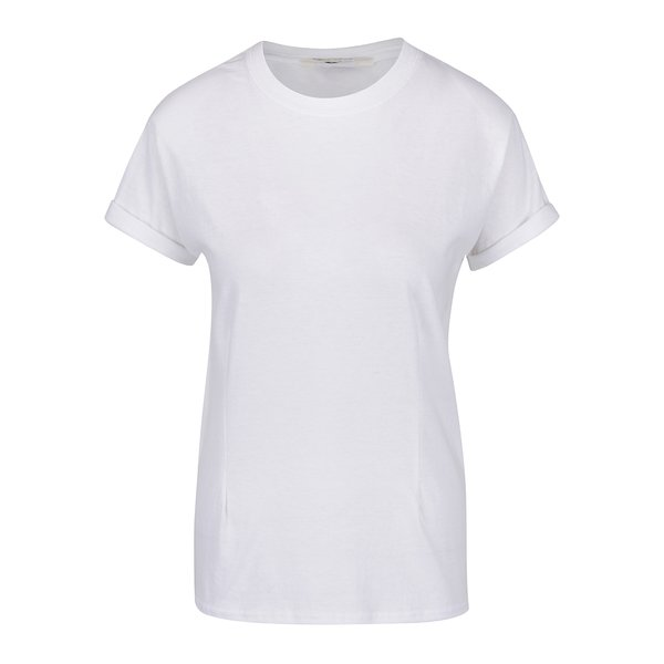 Tricou alb cu umeri întăriți Miss Selfridge de la Miss Selfridge in categoria tricouri