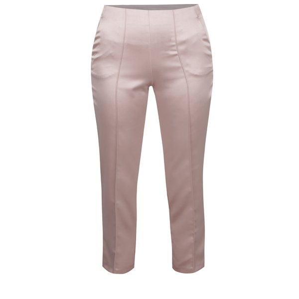Pantaloni roz satinați Miss Selfridge