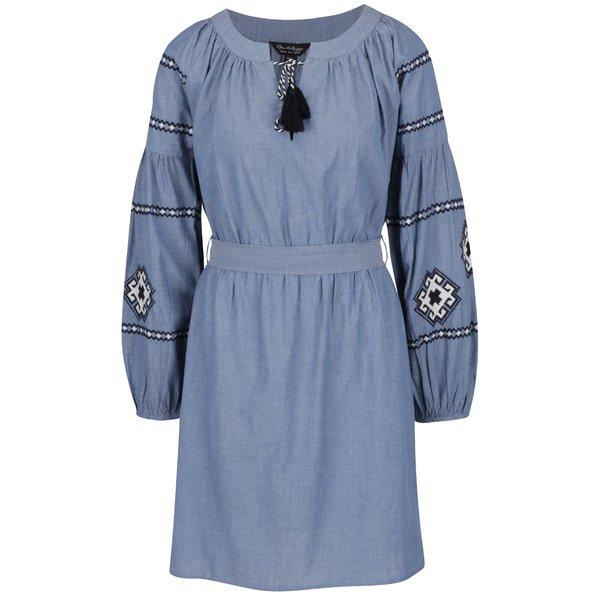 Rochie albastră cu motive etno alb negru Miss Selfridge de la Miss Selfridge in categoria rochii casual