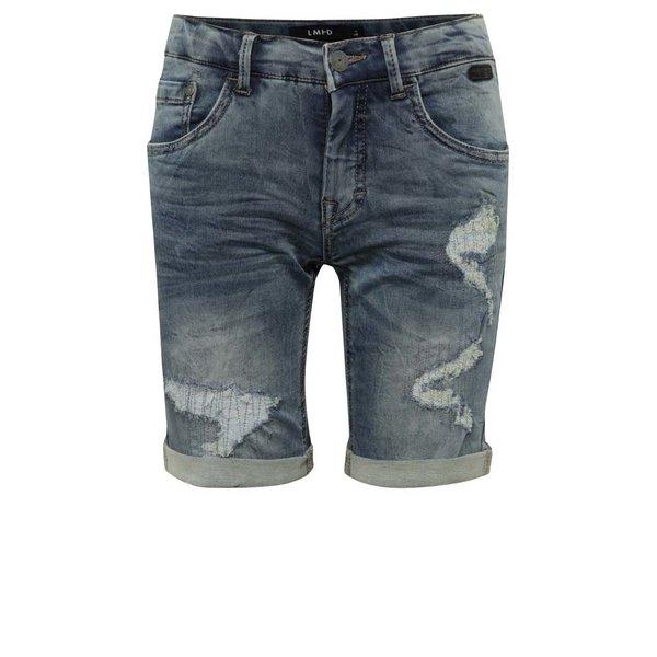 Pantaloni scurți albaștri LIMITED by name it Asher cu aspect deteriorat pentru băieți de la LIMITED by name it in categoria Pantaloni, pantaloni scurți