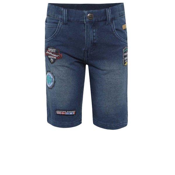 Pantaloni scurți albaștri Bóboli din denim cu aplicații pentru băieți de la BÓBOLI in categoria Pantaloni, pantaloni scurți