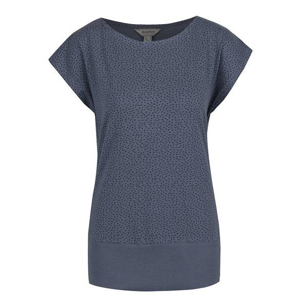 Tricou albastru BUSHMAN Ida cu print abstract de la BUSHMAN in categoria tricouri
