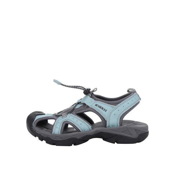 Sandale turcoaz & gri din piele BUSHMAN Vega cu vârf acoperit de la BUSHMAN in categoria sandale
