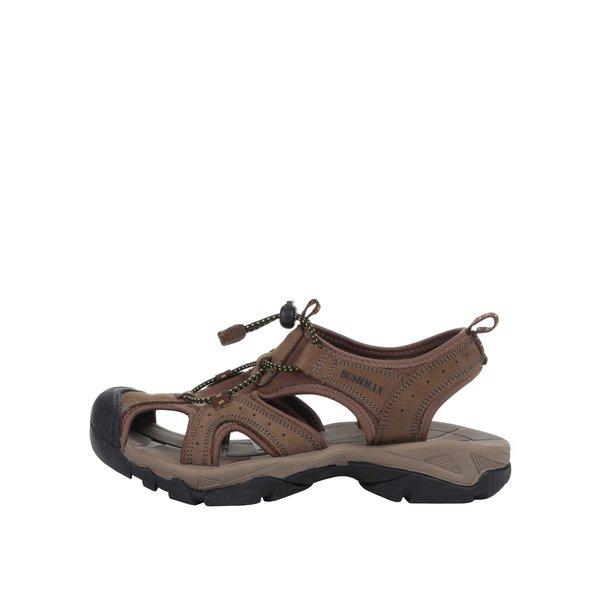 Sandale maron și oliv de piele cu vârf acoperit BUSHMAN Vega de la BUSHMAN in categoria sandale