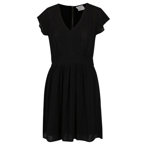 Rochie neagră midi cu fermoar VERO MODA Aneborder de la VERO MODA in categoria rochii casual