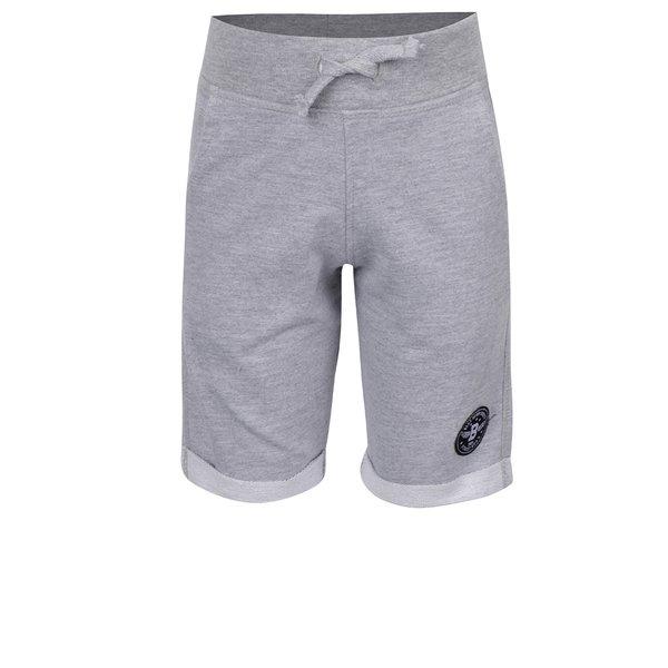 Pantaloni scurți gri melanj Blue Seven cu aplicație de la Blue Seven in categoria Pantaloni, pantaloni scurți