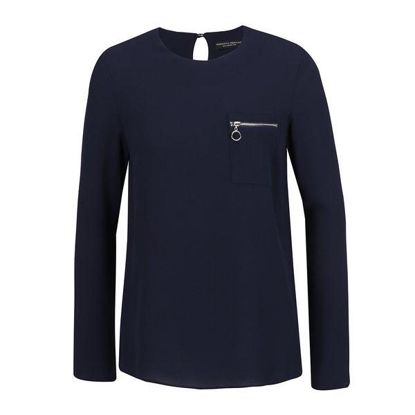 Bluză bleumarin Dorothy Perkins cu fermoar decorativ