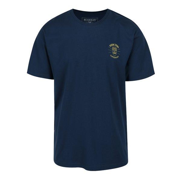 Tricou bleumarin cu print galben BUSHMAN Axis de la BUSHMAN in categoria tricouri