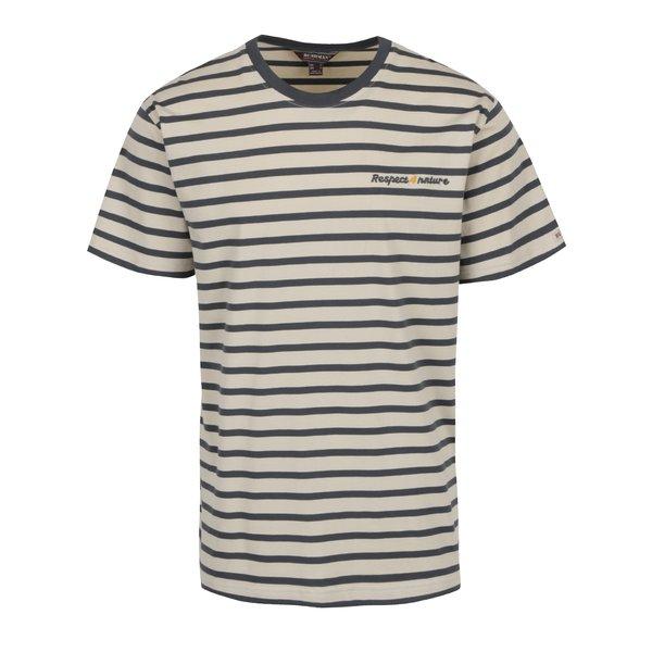 Tricou în dungi gri cu bej BUSHMAN Sailor de la BUSHMAN in categoria tricouri