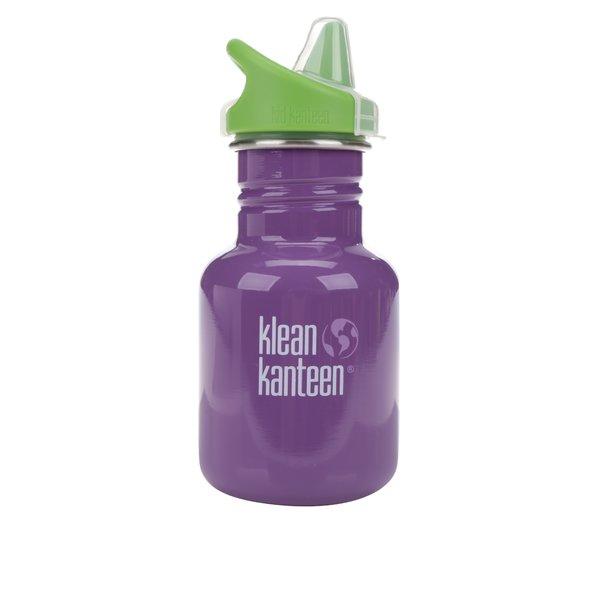 Sticlă de apă verde & mov Klean Kanteen Kid Classic Sippy 355 ml de la Klean Kanteen in categoria Bucătăria