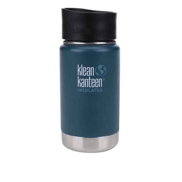 Pahar termos albastru & argintiu Klean Kanteen Insulated Wide 355 ml de la Klean Kanteen in categoria Bucătăria
