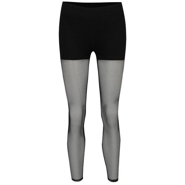 Colanți negri TALLY WEiJL material tip plasă de la TALLY WEiJL in categoria Blugi, pantaloni, colanți