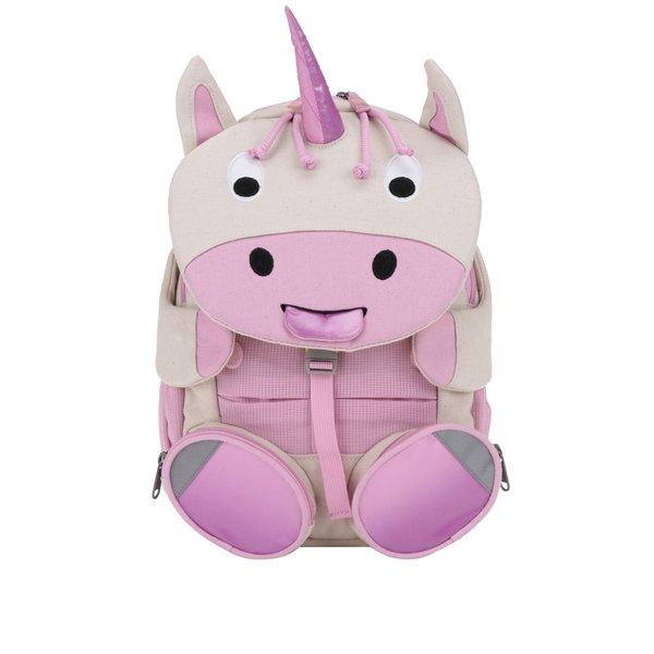 Rucsac roz în formă de unicorn Affenzahn 8 l
