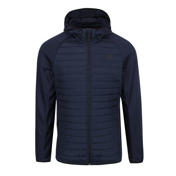 Geacă bleumarin matlasată Jack & Jones Multi Quilted cu glugă de la Jack & Jones in categoria Geci, paltoane, jachete