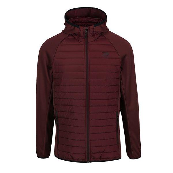 Geacă burgundi matlasată Jack & Jones Multi Quilted cu glugă de la Jack & Jones in categoria Geci, paltoane, jachete