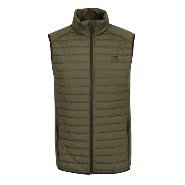 Vestă kaki matlasată impermeabilă Jack & Jones Tech Multi Body Warmer de la Jack & Jones in categoria Geci, paltoane, jachete