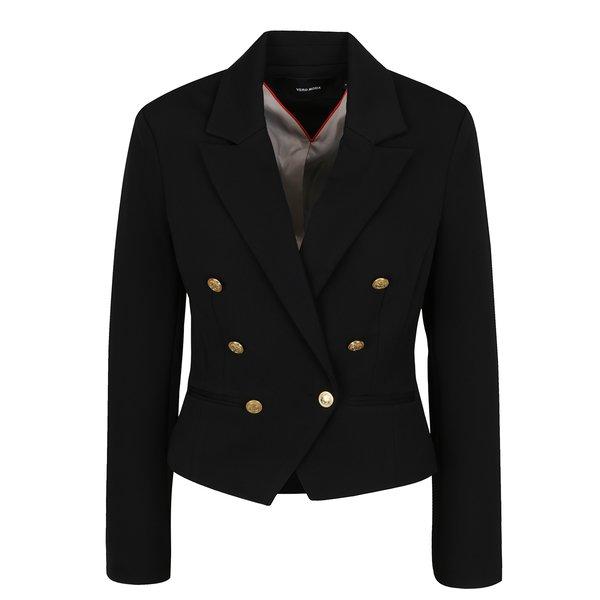 Jachetă neagră VERO MODA Selma cu revere de la VERO MODA in categoria Geci, jachete și sacouri