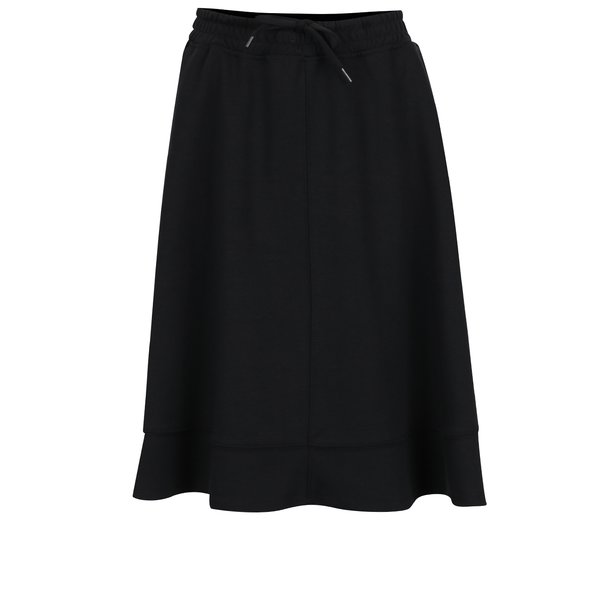 Fustă neagră elastică cu șiret în talie Selected Femme Lou