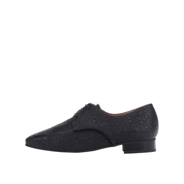 Pantofi negri din piele cu model Selected Femme Tiny