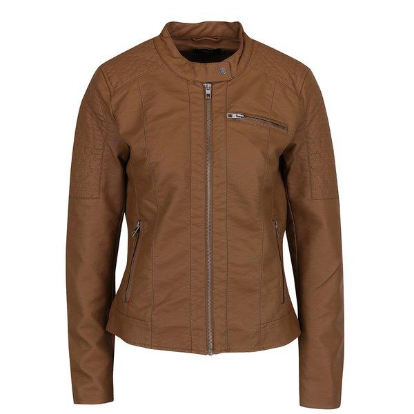 Jachetă biker maro ONLY Ready de la ONLY in categoria Geci, jachete și sacouri