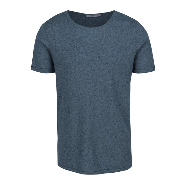 Tricou basic albastru melanj Jack & Jones Randy de la Jack & Jones in categoria tricouri
