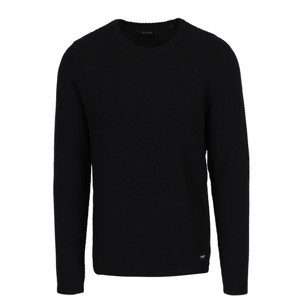 Pulover negru cu model aparent ONLY & SONS Dan de la ONLY & SONS in categoria Pulovere și hanorace