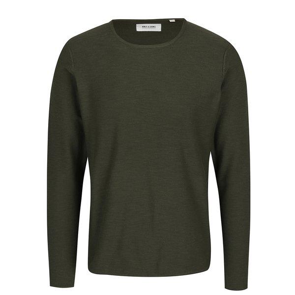 Bluză verde inchis melanj ONLY & SONS Paldin