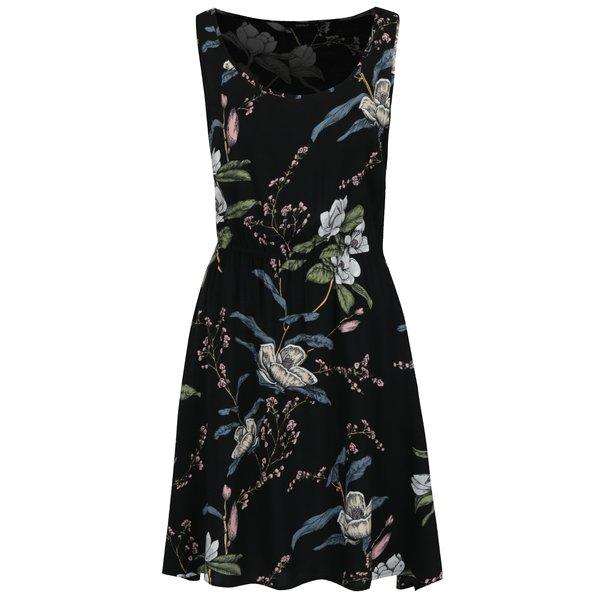 Rochie neagră midi cu print floral ONLY Nova de la ONLY in categoria rochii casual