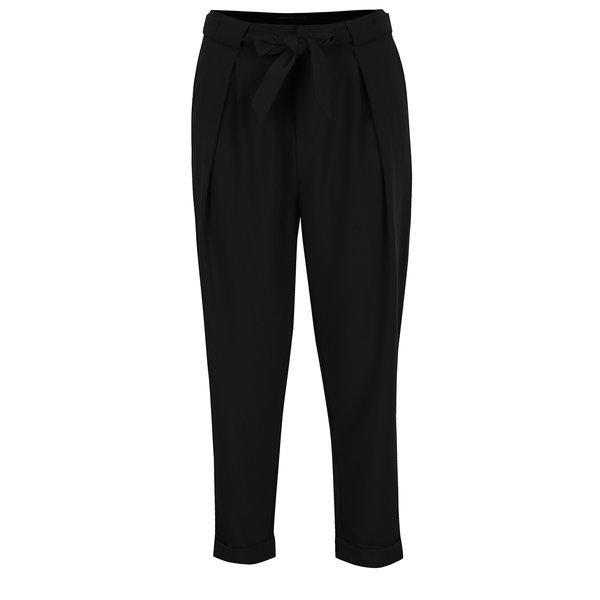Pantaloni negri cu cordon în talie ONLY Fleetwood