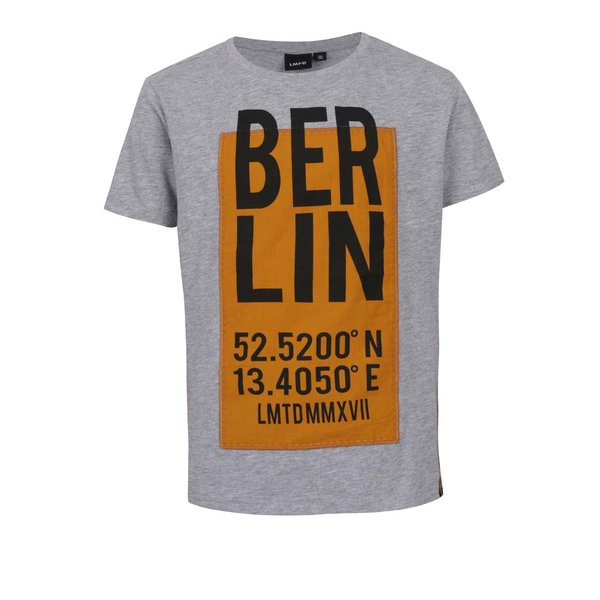 Tricou gri cu print pe partea din fata LIMITED by name it Rux de la LIMITED by name it in categoria Tricouri, camasi