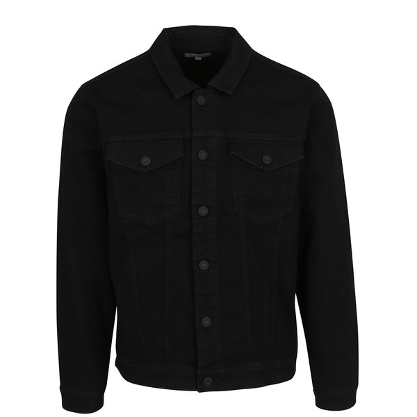 Jachetă neagră din denim ONLY & SONS Chris de la ONLY & SONS in categoria Geci, paltoane, jachete