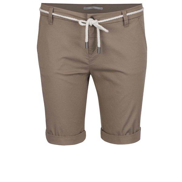 Pantaloni bej ONLY Paris cu șnur în talie de la ONLY in categoria Blugi, pantaloni, colanți