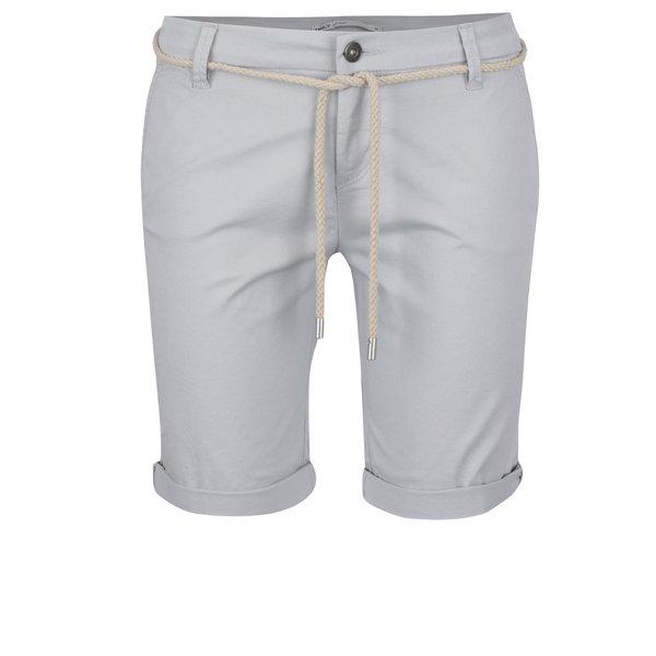 Pantaloni scurți gri deschis ONLY Paris cu șnur decorativ de la ONLY in categoria Blugi, pantaloni, colanți