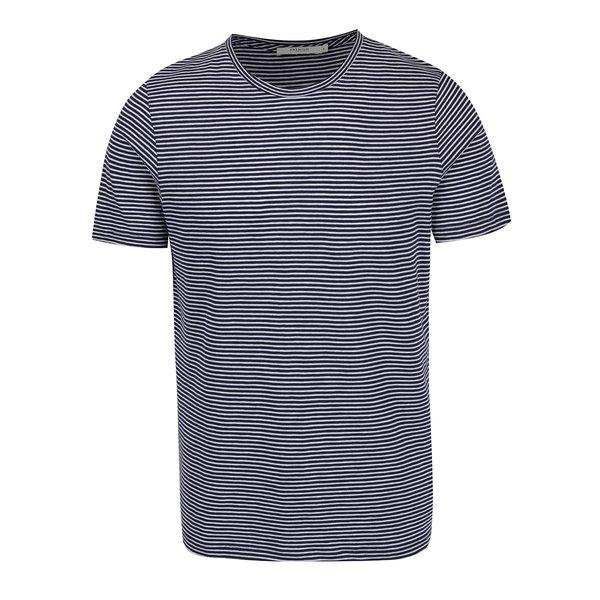 Tricou bleumarin cu alb în dungi Jack & Jones Premium Addy de la Jack & Jones Premium in categoria tricouri